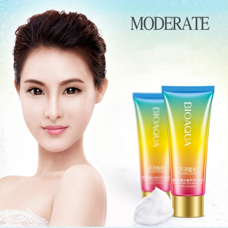 100g Hyaluronic Acid Moisturizing Facial Cleanser Skin Care Products Skin Cleaner Face Whitening Oil Control Beauty