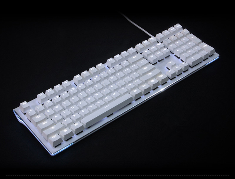White Translucidus Keycap 108 PBT Keycap retroiluminado para OEM cherry MX Switches Teclado mecánico Gaming Keyboard