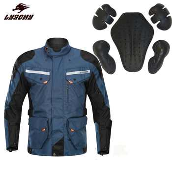 2019 Brand New Waterproof 3 in 1 Detachable Oxford Cloth Motorcycle Jacket Motocross Racing Riding Jacket Jaqueta Motoqueiro
