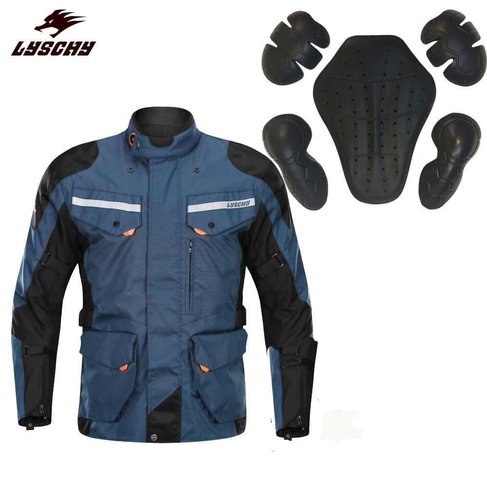 Lyschy Sepeda Motor Jaket Musim Dingin Moto Suit Sepeda Motor Naik Jaket Motocross Jaket Bernapas Tahan Air Motor Perlindungan