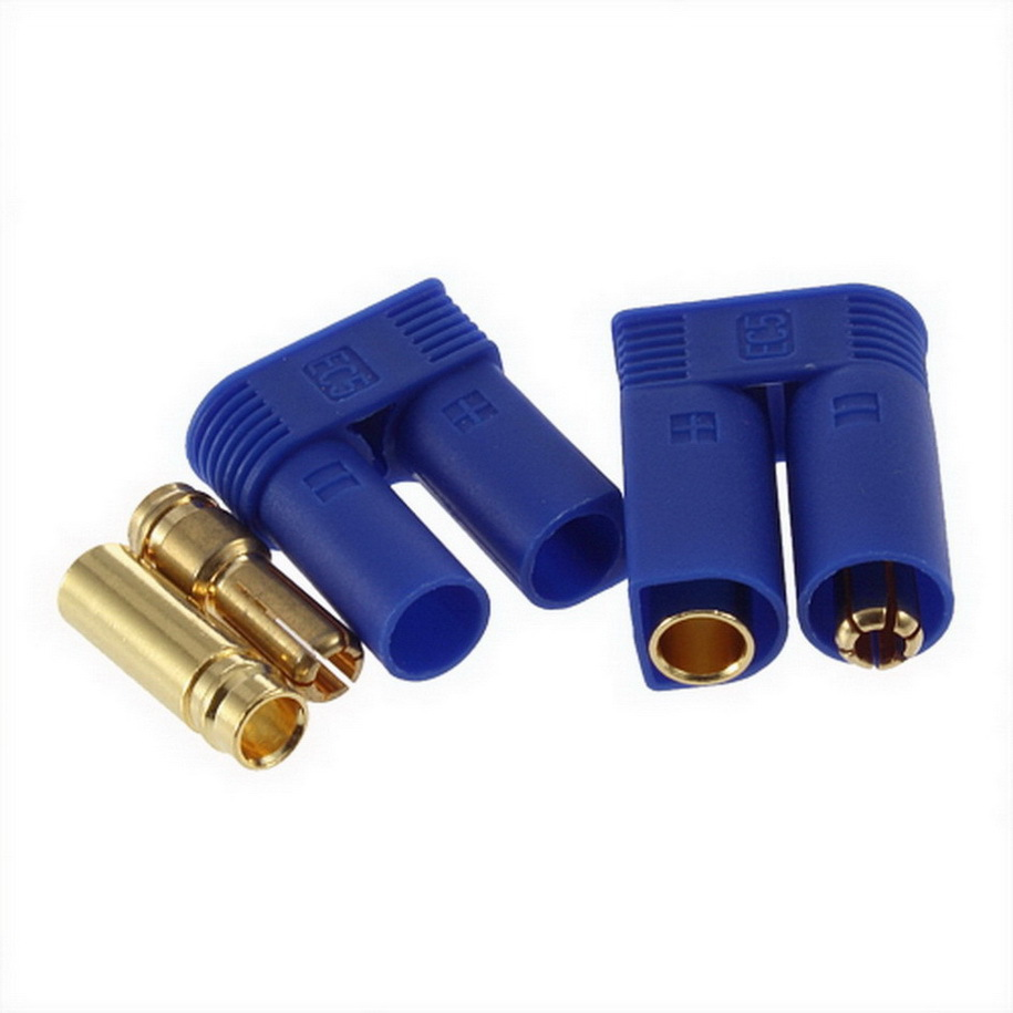Hot 1 Pair EC5 Bullet Connectors Plugs Adapters Male Female Losi Style 5mm New Sale
