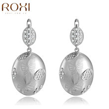 ROXI Women's White Gold Color Earring Classic Style Top Rich CZ Hand Made Drop Earrings New Collection(China)