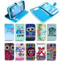 Owl Styles Flip Leather Silicone Case Cover For Samsung galaxy s4 mini 9190 9192 w/ card holder Wallet Stand BF2504