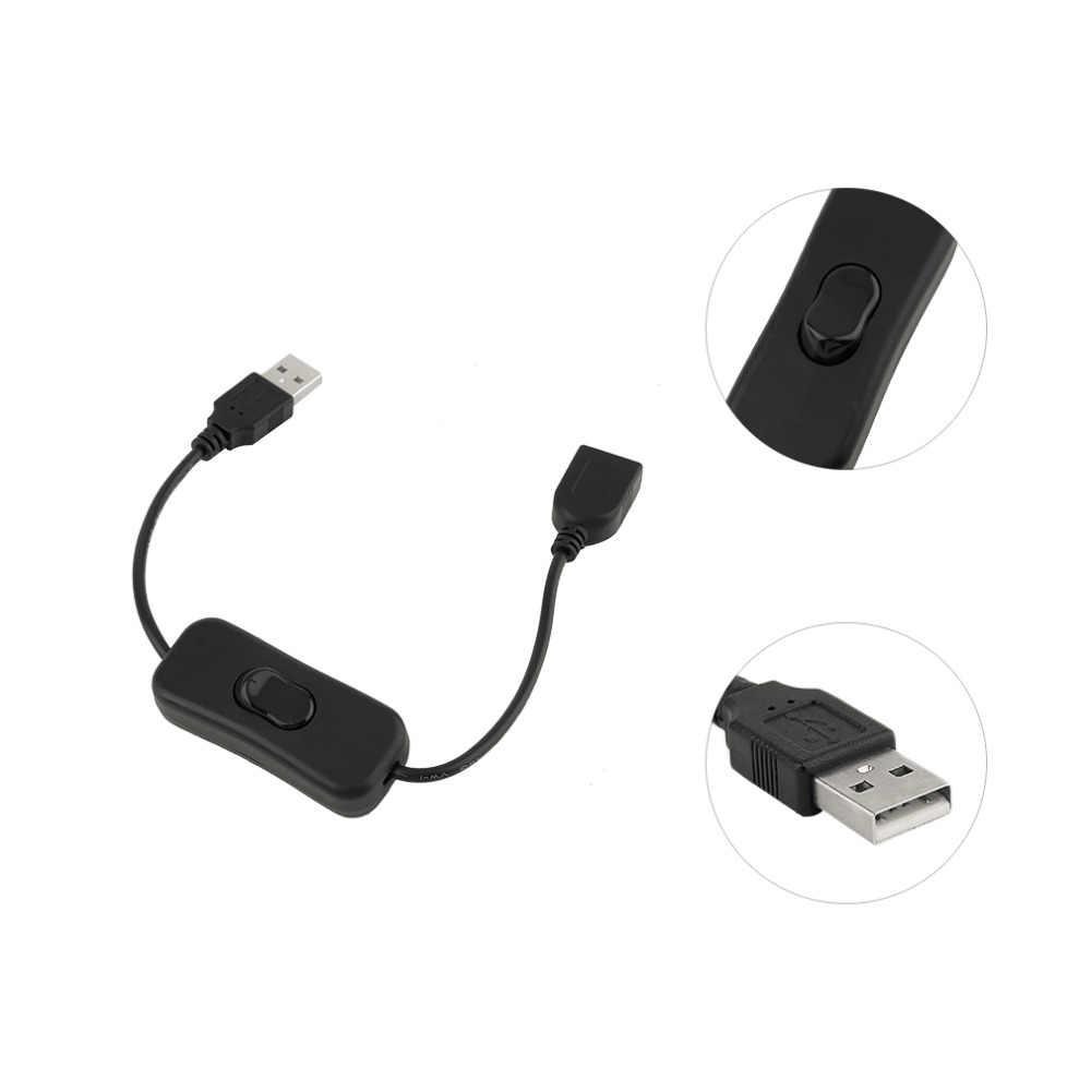 Kabel USB męski na żeński z włącznikiem/wyłącznikiem przedłużenie kabla linia kablowa do lampa USB wentylator USB linia zasilająca