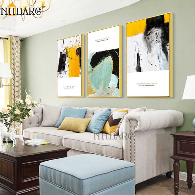 NHDARC Canvas Printings Art Nordic Abstract Style Home Decoration Paintings Posters and Prints Wall Pictures Living Room 00796