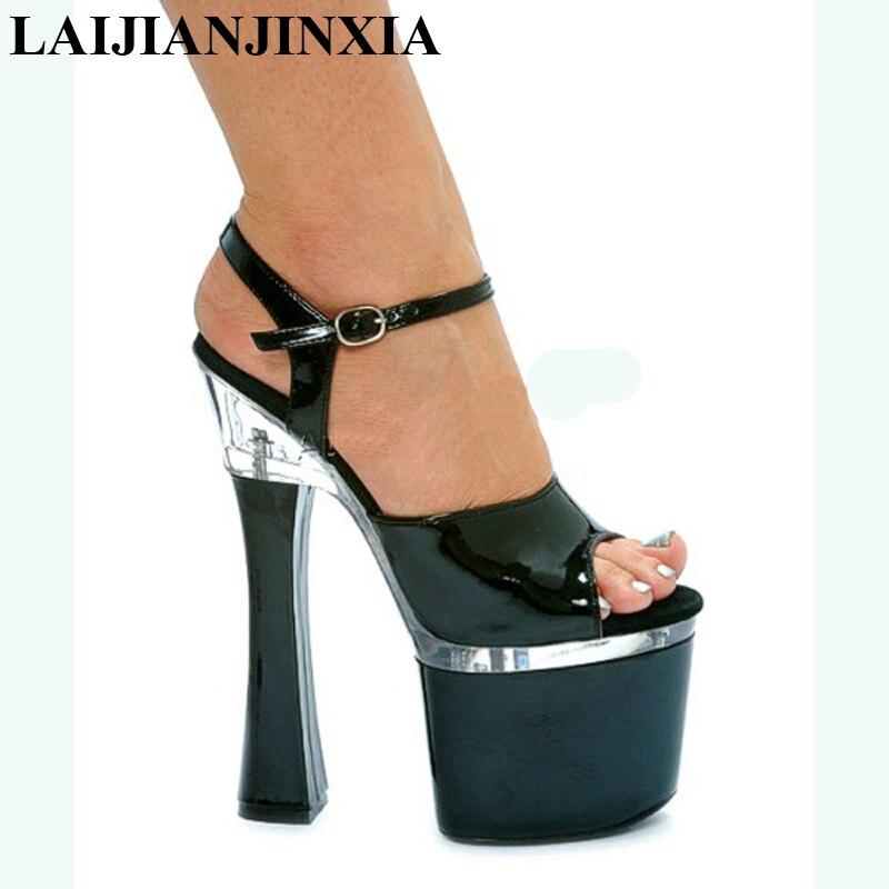 LAIJIANJINXIA New Ladies Excessive Heel Sandals Lap-dancing Sneakers Excessive-Platform Attractive Pole Dancing Sneakers 18 cm Trend Sneakers EUR 34-46 Excessive Heels, Low cost Excessive Heels, LAIJIANJINXIA New Ladies Excessive...