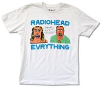RADIOHEAD EVRYTHING WHITE T SHIRT W A S T E NEW HOLLYWOOD OFFICIAL ADULT 100 Cotton