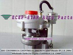 Bezpłatny statku K03 116 53039880116 53039700116 5303-988-0116 5303-970-0116 504136797 Turbo dla FIAT handlowych Ducato 2005-F1A 2.3L