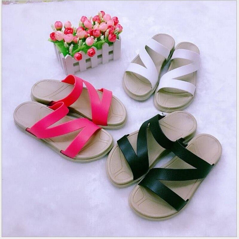 Summer Women Slides 2018 Fashion Slippers Platform Z- word Sandals Beach Slides Flip Flops Comfortable Flat Shoes Chaussure Femm