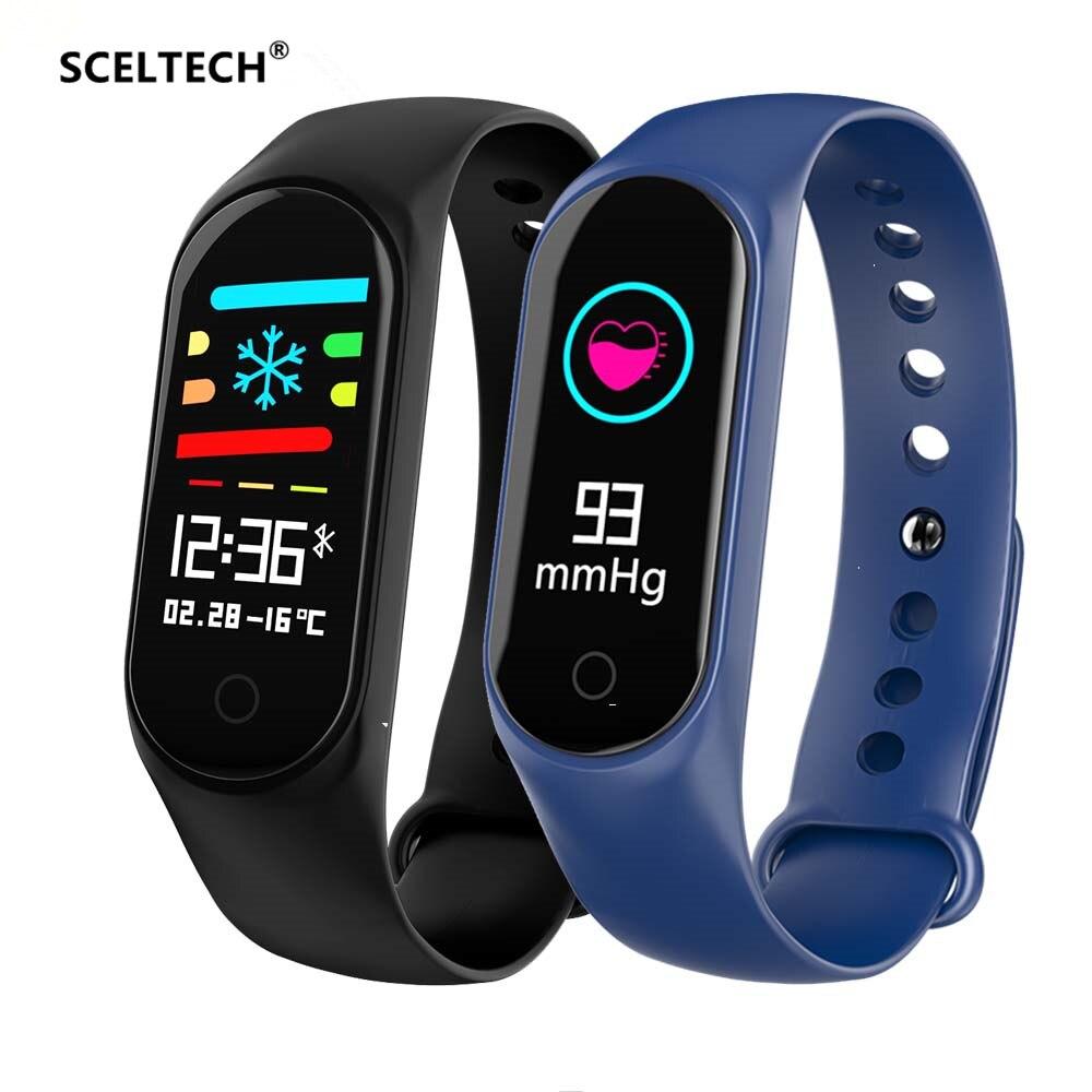 SCELTECH M3 Fitness Bracelet IP67 waterproof Heart Rate Monitor Blood Pressure Smart band Watch PK Mi Band Wristbands Detachable цена 2017