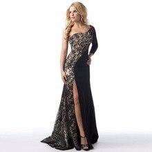 Фотография Evening Party Club Elegant Dress 2017 Women Dress Vestidos De Festa Womens Sexy Dresses Lace stitching Long Evening Maxi Dress