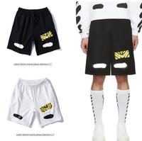 OFF WHITE C/O VIRGIL ABLOH OW 19ss streetwear Letter printed loose men's tide sports beach Jogging shorts