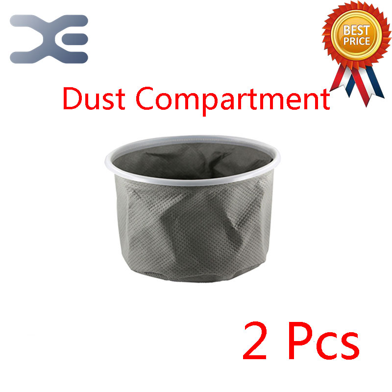 2Pcs Compatible For Midea VT02W-09B Barrel Vacuum Cleaner Accessories Dust Compartment Dust Bag Liner high quality compatible with for sanyo vacuum cleaner accessories dust bag bag sc s280 y120 33a s280