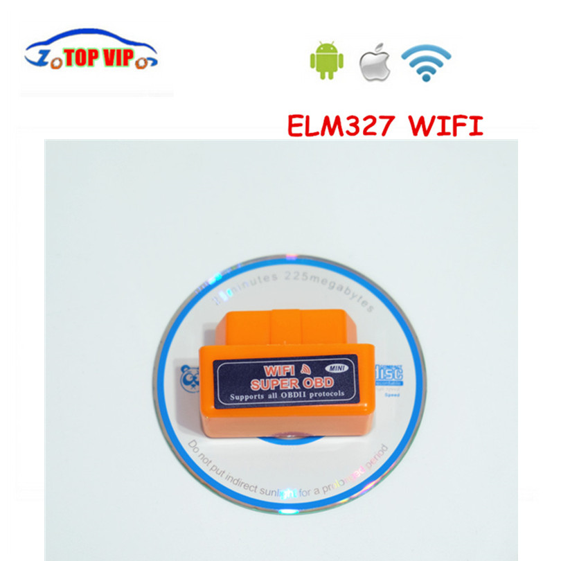 50pcs/lot DHL WIFI ELM327 SUPER MINI WIFI ELM 327 Scanner V1.5 Smart Car Diagnostic Interface ELM 327 Wireless Tool Three Colors