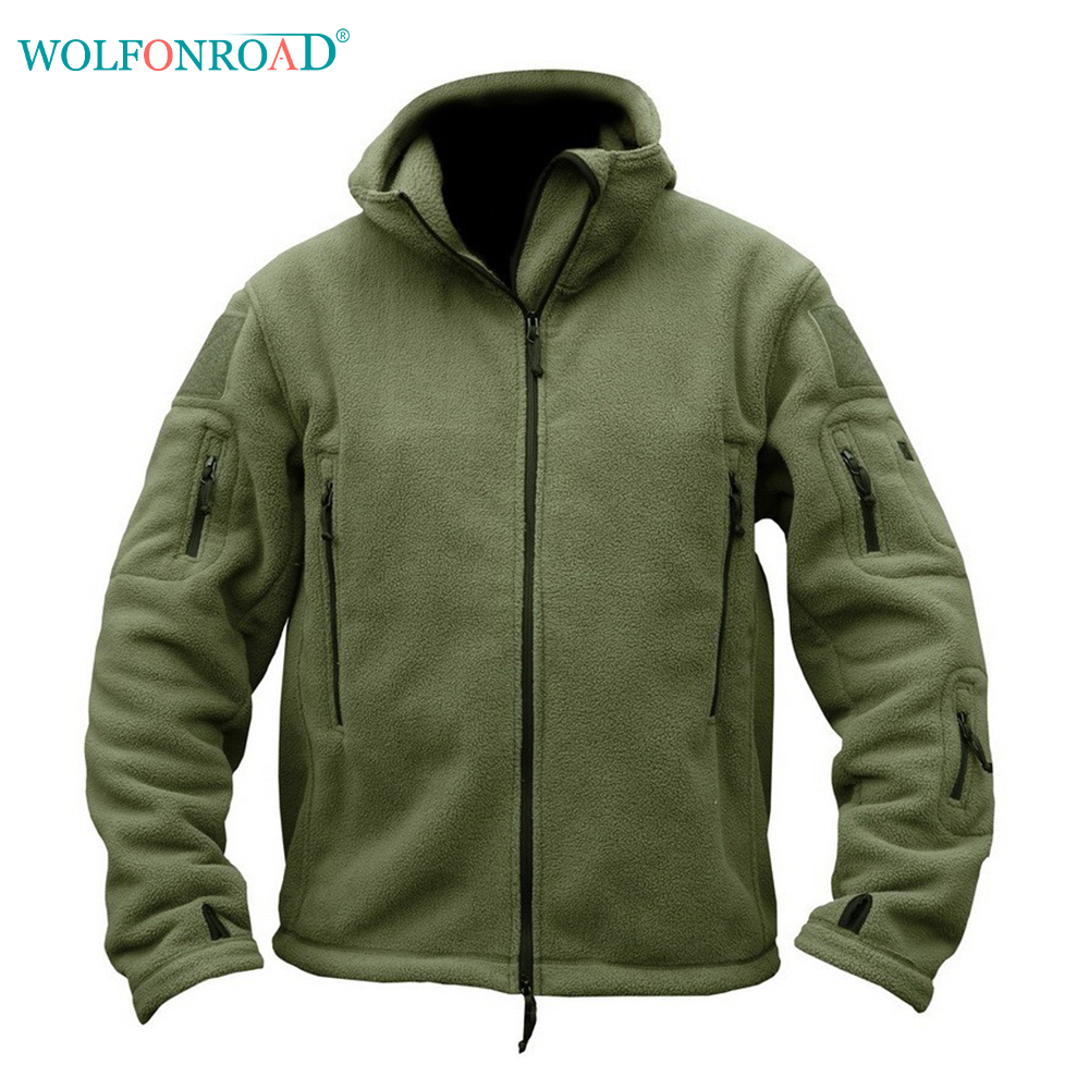 WOLFONROAD Men's Winter Fleece Jacket Military Tactical Jacket Outdoor Thermal Hiking Camp Jacket Coat Hunting Sport Clothes Men title=