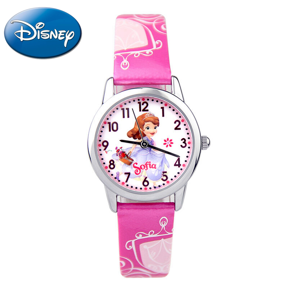 Brave Sofia princess child lovely quartz watch girls dream good fashion casual leather watches Kid favorite coloful clock 14029 disney frozen elsa anna princess best rhinestone watch pretty girls fashion casual quartz watches kid leather 54055 snowflake