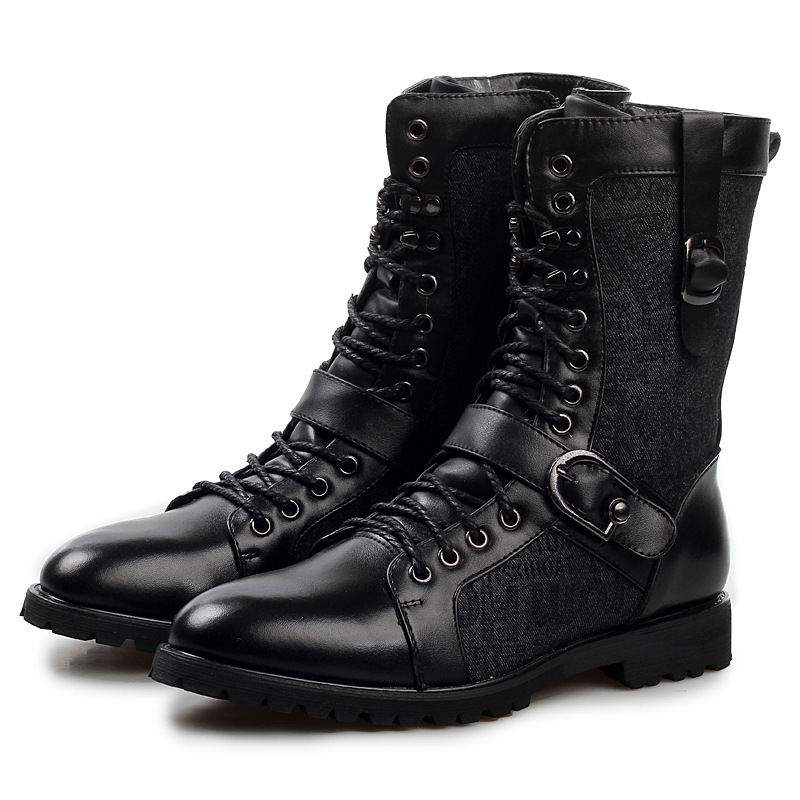 Hot European Luxury Branded font b Men s b font Leather font b Boots b font
