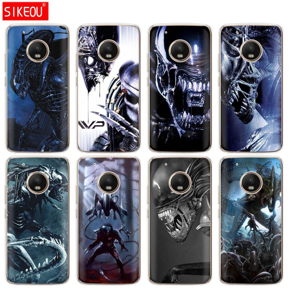 Silicone Case Phone Cover For Motorola Moto G6 G5 G5S Z2 Z3 PLAY PLUS X4 E4 E5 C Alien Vs Predator