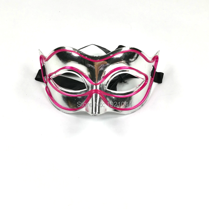 EL Wire Lights Mask 1pieces Lighting Color Purple Cosplay Mask for Festival Show Party Decoration Suppleis