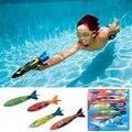 Submarino Torpedo Cohete Piscina Toy kid Juguete Del Baño de Natación Buceo cohetes Juegos de Fiesta/diversión para mejorar las habilidades de natación 4psc/lot