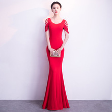 2018 Self-cultivation Vintage Tasse Evening Dresses Mermaid