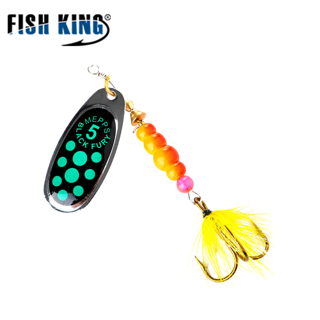 US $4 98 20% OFF|Mepps Bass Fishing Lure With Feather Tail Spinner Bait  3Pcs Metal Hard Lure Spoon Spinner Bait Isca Artificial Fishing Tackle -in