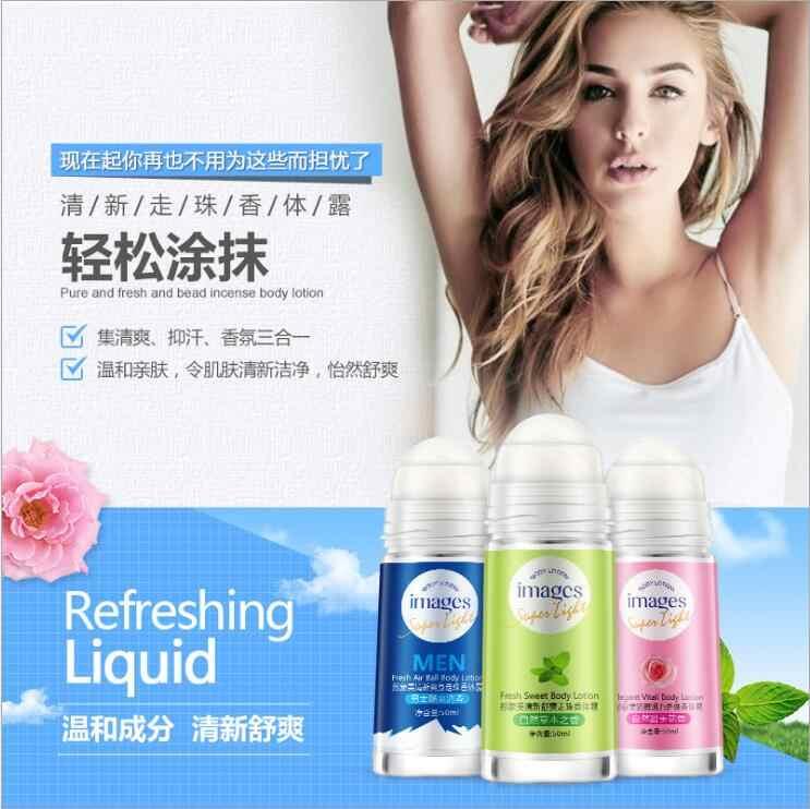 3 styles Images balle corps Lotion anti-transpirants sous les bras déodorant rouleau sur bouteille femmes parfum hommes lisse sec parfums