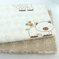 Offer Promotion Cotton Twill Cotton Cloth Bedding Fabric Cloth Wholesale And Processing The Baby Happy