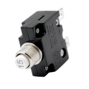 Image 1 - 1 Pcs Push Button Reset Only Screw Terminals Resettable Circuit Breaker For Auto Marine Etc Overload Protection Circuit Breaker