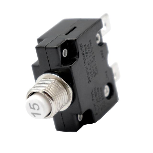 1 Pcs Push Taste Reset Nur Schraube Terminals Rückstellbare Circuit Breaker Für Auto Marine Usw Überlast Schutz Circuit Breaker
