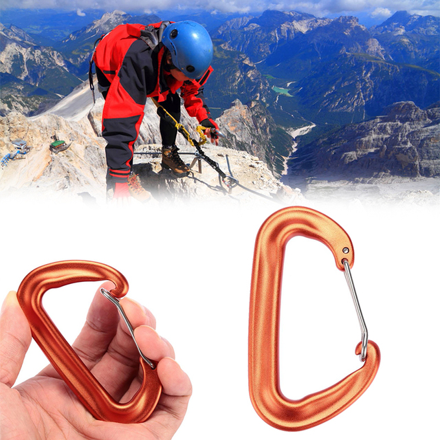 D Shape Carabiner Hook Sport Buckle Mountaineering Climbing Accessory 12KN New for the climb Mountaineering Suspension Lock