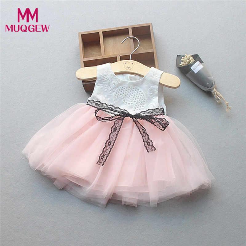 e0656e081a877 Toddler Kids Baby Girls Denim Dress Lace Princess Tutu Dress Tuller ...