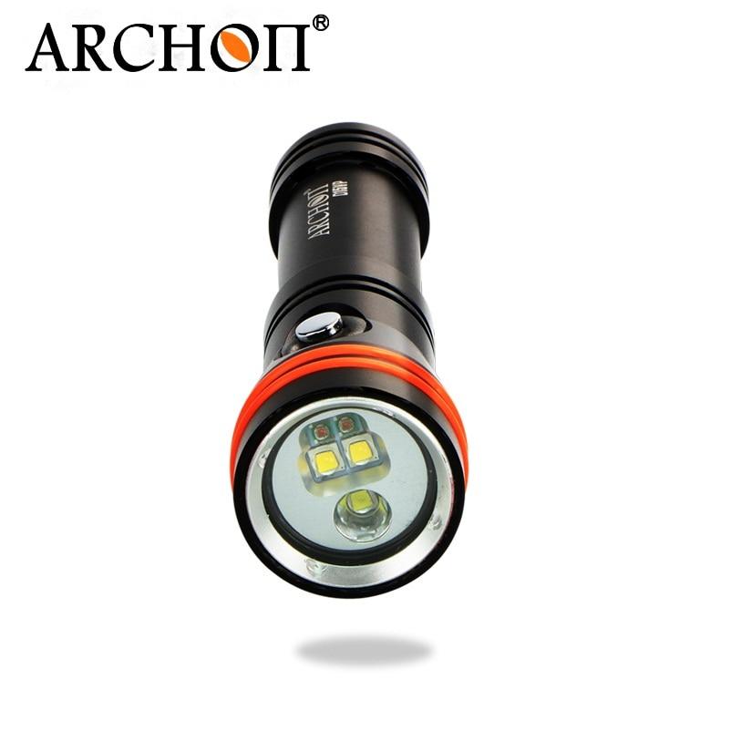 ARCHON D15VP CREE XM L2 U2 / CREE Diving Flashlight Diving Video & Spot Light White/Red 3pcs CREE LED 1300 lm by 18650 Battery cree xm-l2 u2 dive video cree led - title=