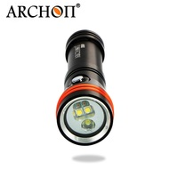 ARCHON D15VP CREE XM L2 U2 / CREE Diving Flashlight Diving Video & Spot Light White/Red 3pcs CREE LED 1300 lm by 18650 Battery