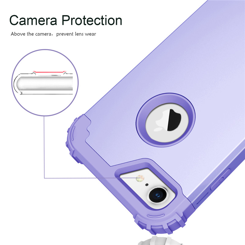 For iPhone7 Case Heavy Duty Hybrid Shockproof Armor Rugged Case For iPhone7Plus Cover Hard PC + Soft Rubber Silicone Phone Cases (5)