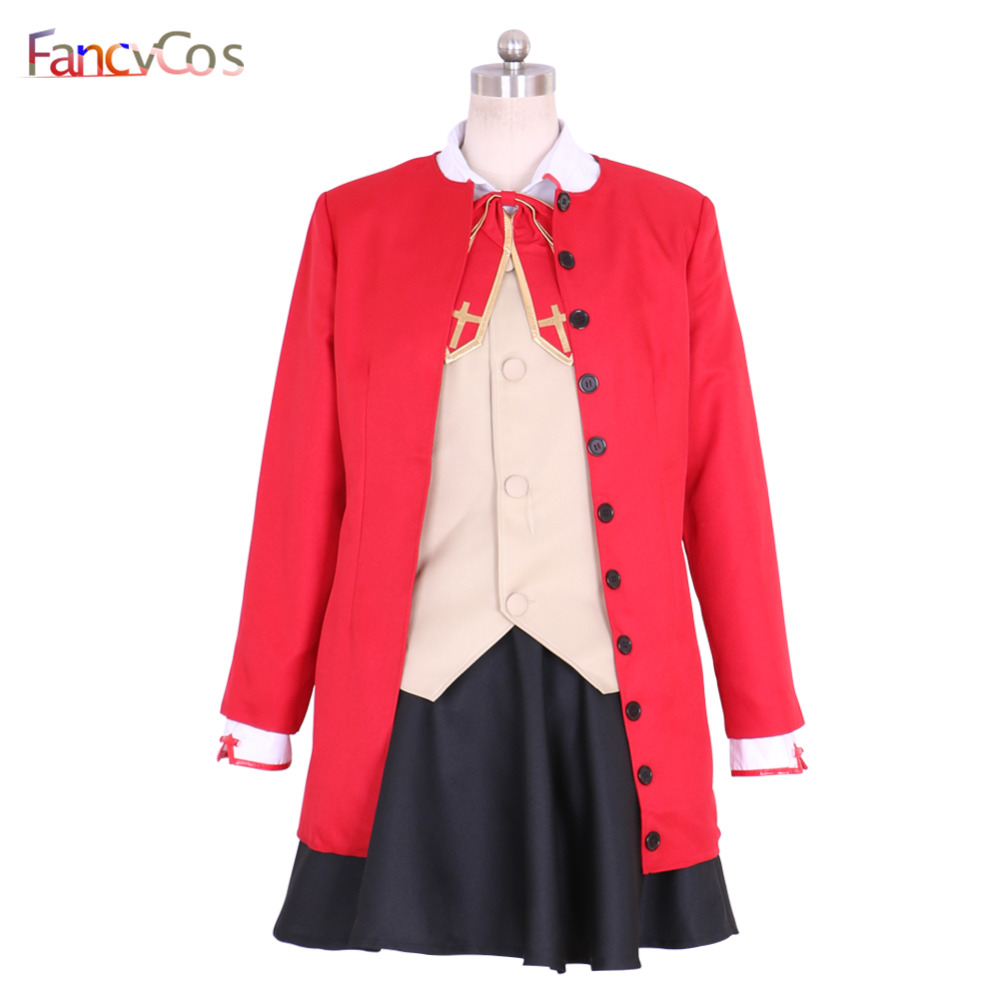 Halloween Fate Stay Night Tohsaka Rin Cosplay Costumes adult costume movie High Quality Deluxe