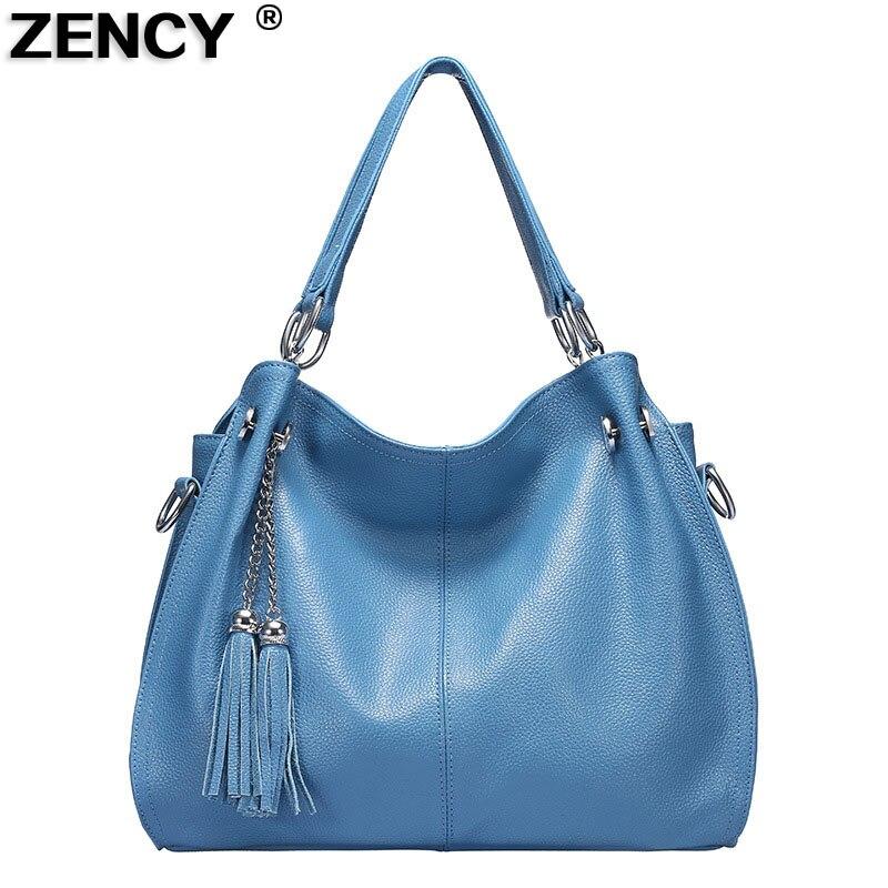 Classic Fashion Soft Real Genuine Cow Leather Ladies Women Handbag Tote Long Strap Shoulder Crossbody Messenger Bags