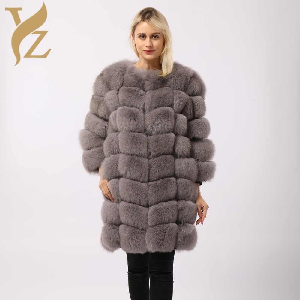 f7b73407dd8 Длинный пушистый зимние пальто с натуральным мехом пальто лисий мех пальто  Для женщин дизайнер плюс Размеры