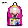 2017 Preppy Style Children School Bags Cute 3D Animal Pug Dog Printed Schoolbag Girls Kids Women School Book Bag Mochila Escolar