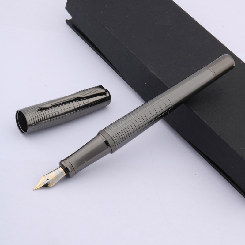 Classic New Stripe Pattern Metal Gun Grey Fashion Gift Fountain Pen