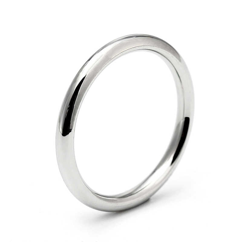 2.5mm Silver Stainless Steel Ring For Man and Women
