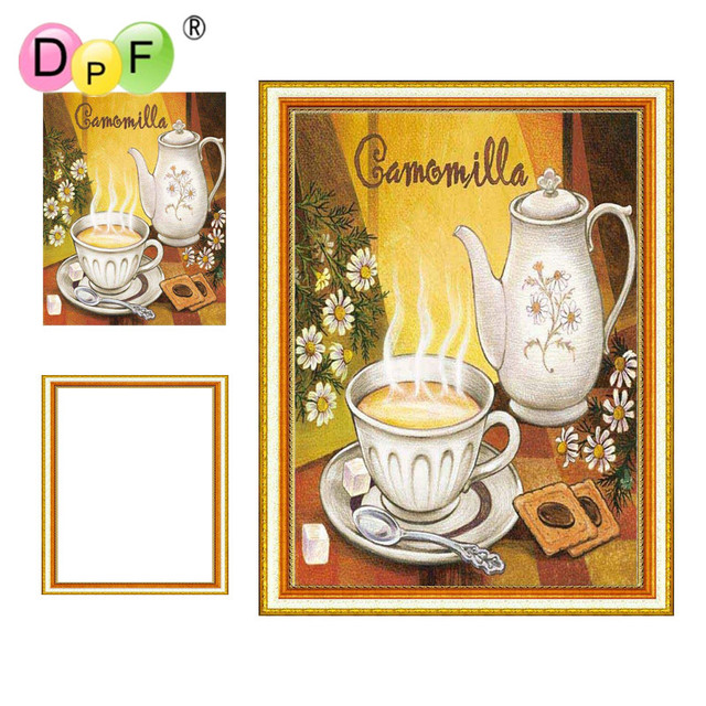 Aliexpress.com : Buy DPF Framed diy Diamond Painting coffee & tea ...
