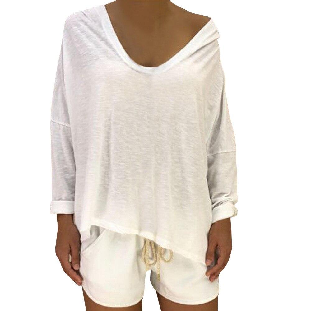 JAYCOSIN Womens Fashion Shantou Print Shirt Long Sleeve Blouse Hooded Sweatshirt PH6 crop top sweatshirts for girls
