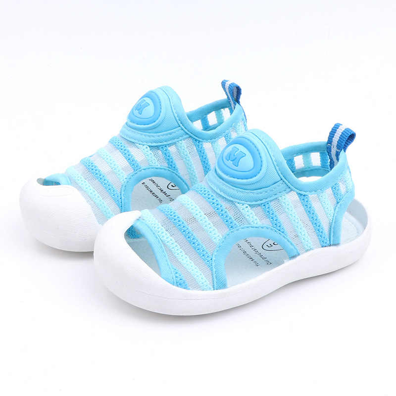 Children's Brand Summer Sandals Baby Toddler Shoes 1-3 Year Kids Soft Bottom Kinitted Mesh Sandals Boys Girls Casual Beach Shoes