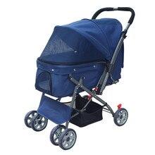 Dog Stroller Portable Dog Cat Carrier Four Wheel Pet Stroller Sunshade Puppy Stroller Pet Travel Supplies Load 24kg