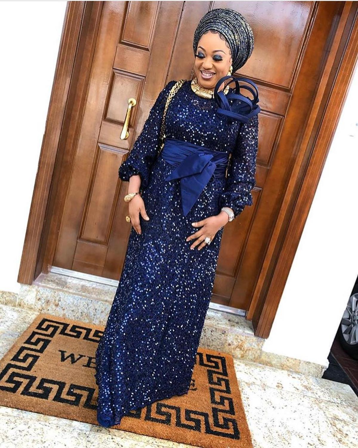 Royal Blue African Lace Fabric With Sequins Lace Fabric 2019 High Quality Lace African French Lace