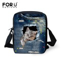 Brand Women Messenger Bags Pet Animal Cat Printing Girls Cross Body Bag for Children Small Girls Casual Shoulder Bags