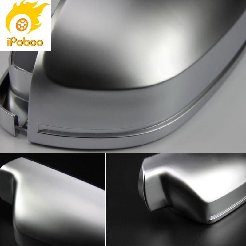 2pcs Silver ABS Chrome Side View Mirrors Replacement Caps Cover For VW Scirocco