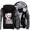 Warm Suicide Squad Harley Quinn Joker Cosplay Coat Hoodie Unisex Winter Fleece Thicken Jacket Sweatshirts