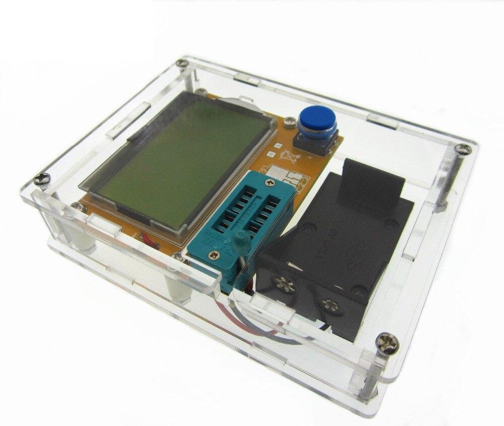 Latest LCR-T4 ESR Meter Transistor Tester Diode Triode Capacitance Mos Mega328 Transistor Tester + CASE (not Battery ) transistor ta49106